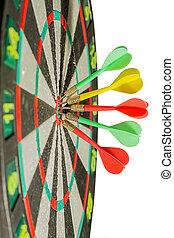 centro, flechas, plano de fondo, dardos, blanco, blanco
