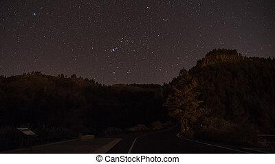 centro, isla, cielo, canaria, estrellas, gran