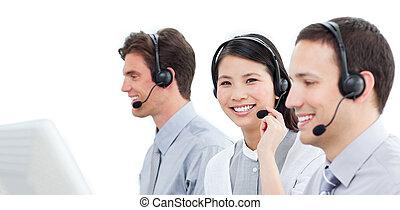 centro, lavorativo, chiamata, agenti, assistenza clienti, assertivo