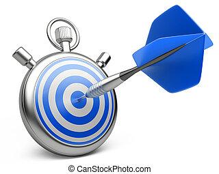 centro, marketing, concept., ilustração, dardo, bater,...