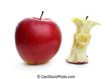 centro, mela intera