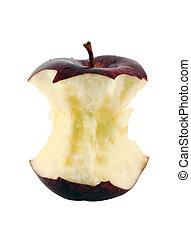 centro, mela rossa