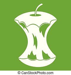 centro, mela verde, icona