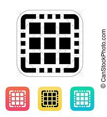 centro, multi, cpu, icon.