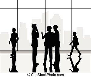 centro, negócio, corredor