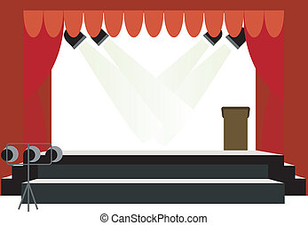 centro, palcoscenico