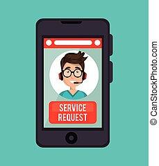 centro, servizio, richiesta, chiamata, linea, operatore, tipo