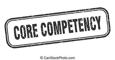 centro, stamp., grunge, competency, nero, quadrato, segno