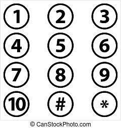 centrum, tien, binnen, eersteklas, cirkel, gerichte