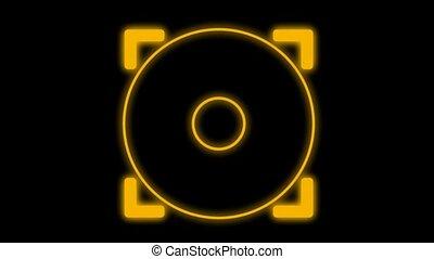 centrum, van, een, doel, militair, interface