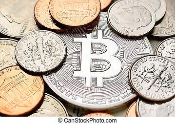 cents, argent, bitcoin
