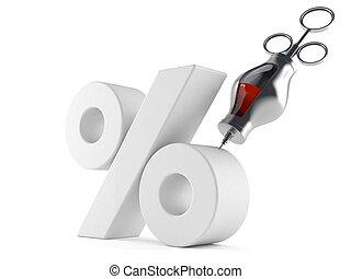 cents per, symbol, hos, injektionssprøjte