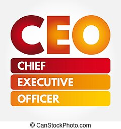 CEO ? Chief executive officer acronym, business concept background