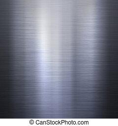 cepillado, aluminio, plato metal