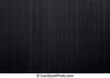 cepillado, negro, aluminio