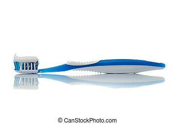 cepillo de dientes azul