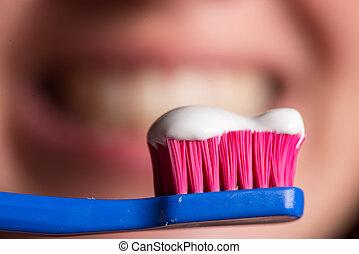 cepillo de dientes, limpia, dientes