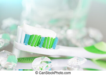 cepillo de dientes, luz, plano de fondo