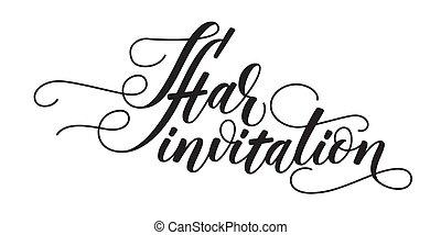 cepillo, invitación, moderno, iftar, caligrafía