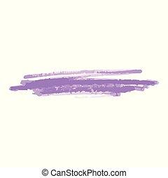cepillo, realista, o, isolated., tagging, golpe, ilustración...
