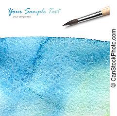cepillo, y, pintura del watercolor
