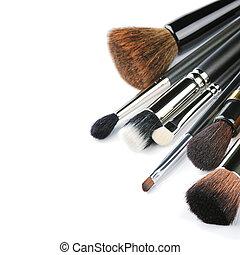 cepillos, vario, maquillaje