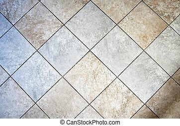 cerâmico, chão tiled