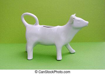 cerâmico, vaca leite