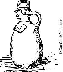 cer㢭icas, etruscan, vindima, engraving.