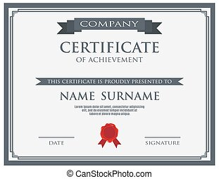 cera, certificado, modelo, selo
