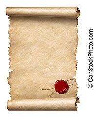 cera, rúbrica, sello