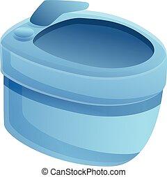 Ceramic bidet icon, cartoon style - Ceramic bidet icon. ...
