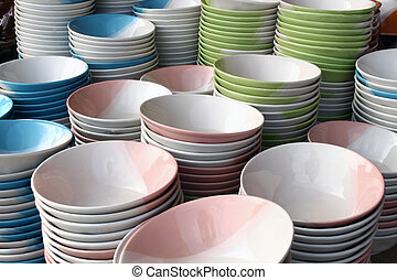 ceramic bowl background