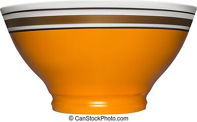 Ceramic bowl in vector on white background.