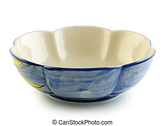 ceramic bowl on white background
