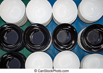Ceramic bowl with assorted designs