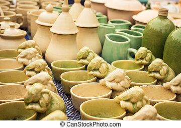Ceramic bowl with assorted designs.
