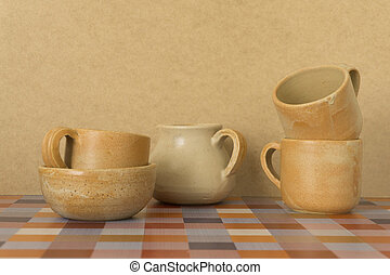 ceramic clay dishes
