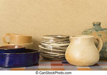 ceramic clay handmade kitchenware