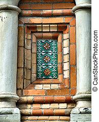 Ceramic decoration in architecture