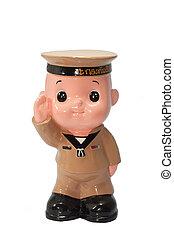 Ceramic Doll of Navy