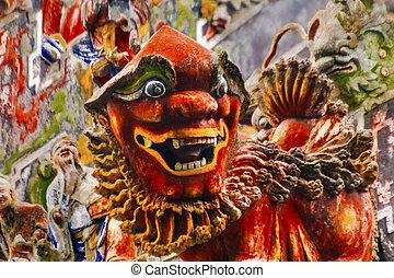Ceramic Dragon Figurine Statue Chen Ancestral Taoist Temple...
