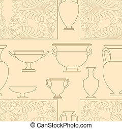 Ceramic Ethnic national Greek style seamless pattern
