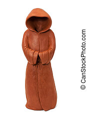 ceramic figurine in the form of the monastic cloak with hood