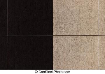 Ceramic granite floor tiles in two colors