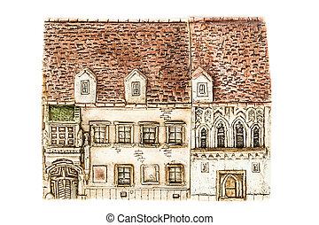 Ceramic house