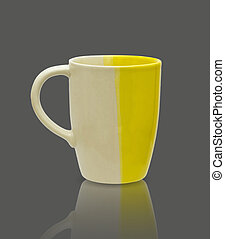 ceramic mug. Isolated  with clipping path