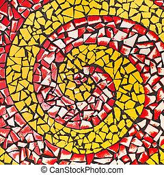 Ceramic - Multi-colored ceramic flooring