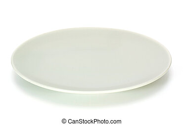 Ceramic plate isolated on a white background