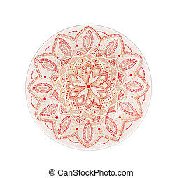 Ceramic plate varnished. Isolated on a white background.